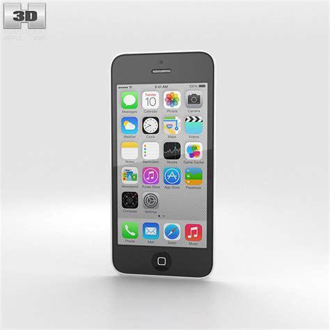 apple iphone 5c white 3d model hum3d