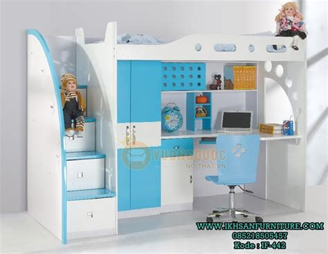 Tempat Tidur Atas Bawah model tempat tidur susun bawah meja belajar ranjang anak