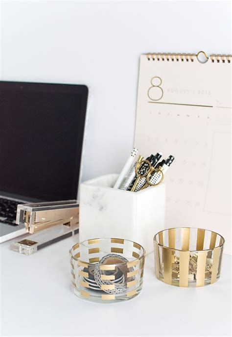 Gold Desk Accessories A Touch Of Glamor At The Workplace Gold Desk Accessories