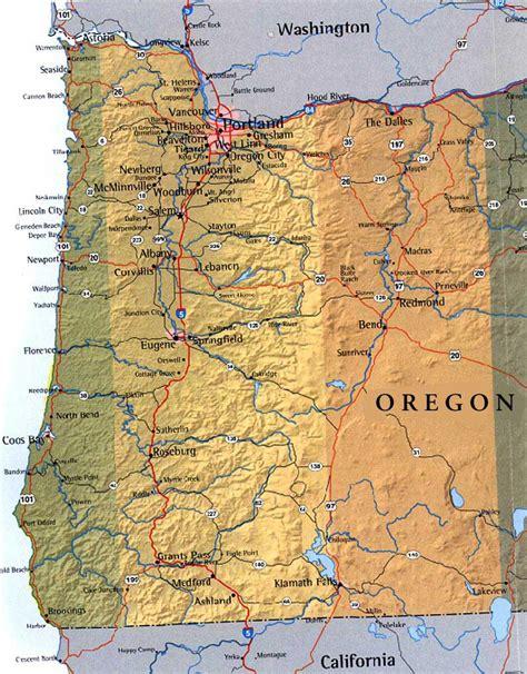 map of oregon usa map of western oregon usa
