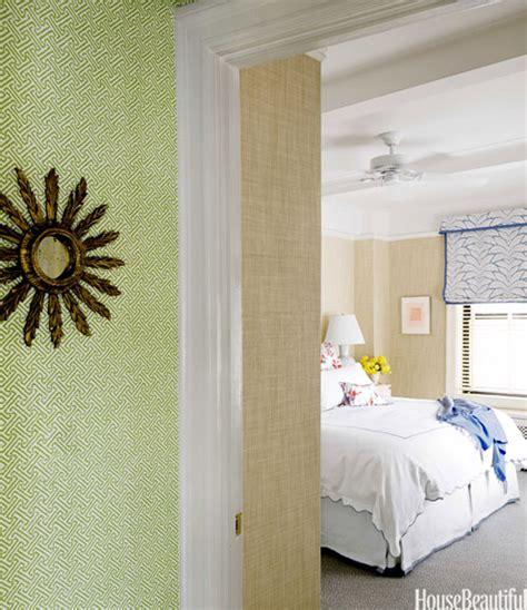 green wallpaper hallway lime green quadrille wallpaper in hallway simplified bee