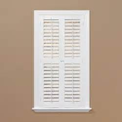 Home Depot Window Shutters Interior Homebasics Plantation Faux Wood White Interior Shutter Price Varies By Size Qspa3148 The