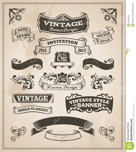design banner retro 16 vintage banner vector images vintage ribbon banner