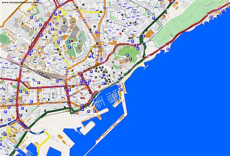 map of alicante city karten und stadtpl 228 ne alicante
