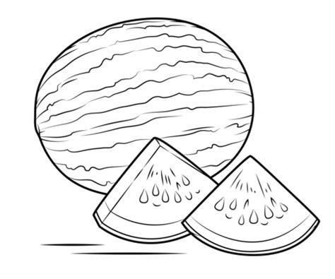 Whole Watermelon Coloring Page | kolorowanka arbuz kolorowanki dla dzieci do druku