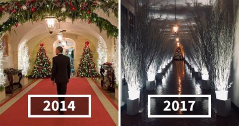 trump white house decor melania s white house christmas decorations look so creepy
