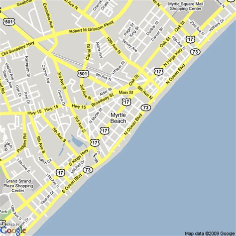 Map of Myrtle Beach, United States   Hotels Accommodation