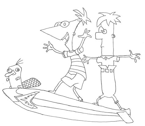 Free Printable Phineas And Ferb Coloring Pages For Kids Phineas And Ferb Coloring Pages To Print