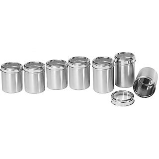 stainless kitchen canisters stainless steel kitchen storage canisters with see through