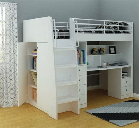 king size loft bed with desk loft bed with desk and storage furniture the