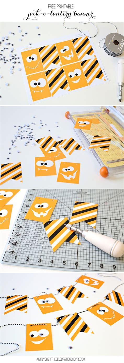 printable jack o lantern craft free printable googly eye jack o lantern banner the