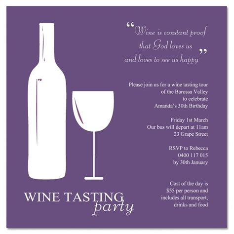 wine tasting template wine invitations theruntime