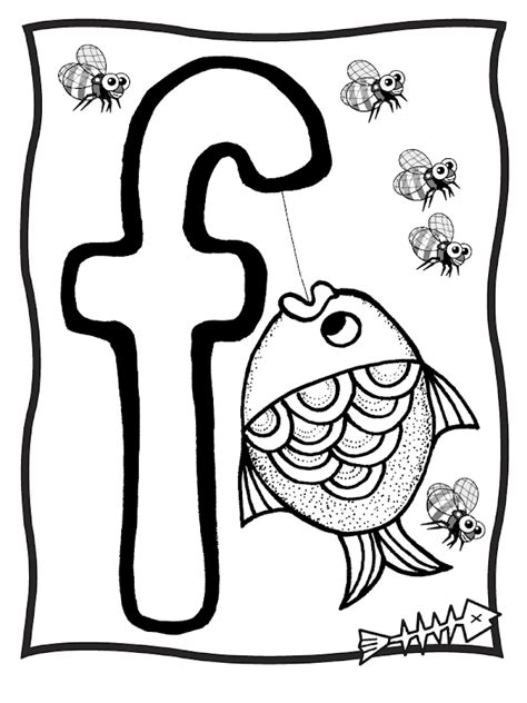Alphabet F Coloring Pages by Free Letter F Coloring Pages