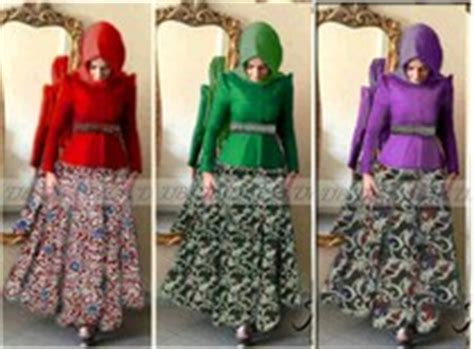 Rok Batik Layer 7 8 model baju muslim fashion