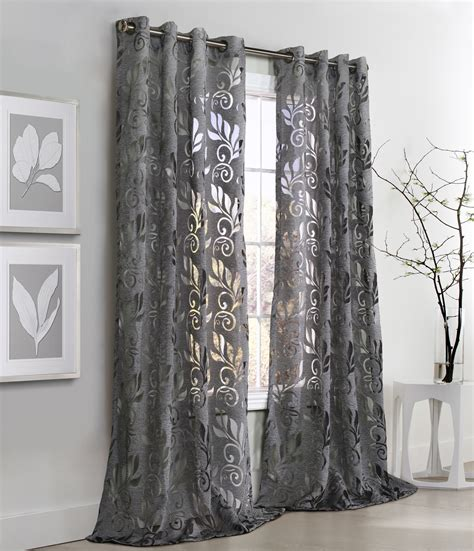 how to put grommets on curtains amelia floral burnout grommet curtain panel couture