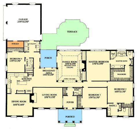 single level house plans corner lot house plans grand one level home plan 32462wp 1st floor master