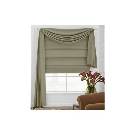 Microfiber Fabric Roman Shade   Curtain Drapery.com