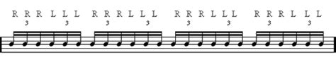 drum roll pattern learn how to play the triple stroke roll drum rudiment