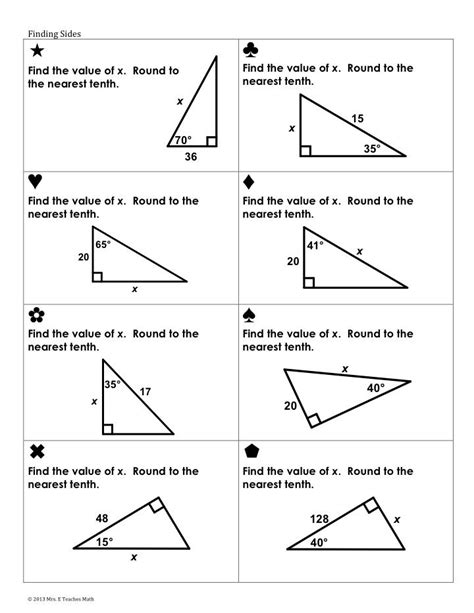 Trigonometric Ratios Worksheet Answers by Trig Ratios Worksheet Worksheets Releaseboard Free
