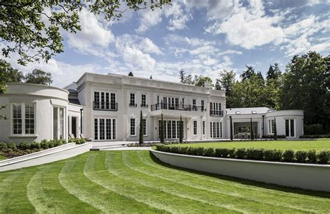 stunning contemporary classical mansion  surrey