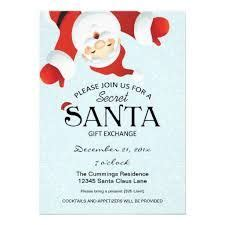 Secret Santa Party Invitation Diy Printable By Paperfoxdesign 12 50 Holiday Party Invites Secret Santa Email Template