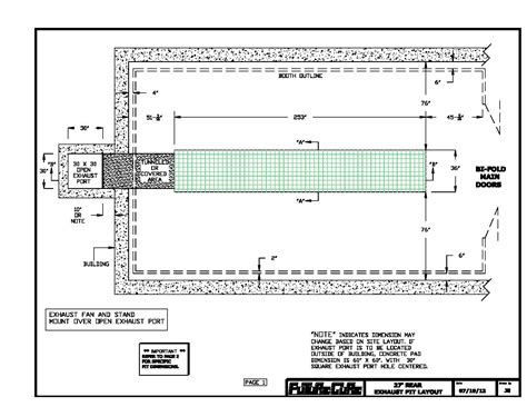 vehicle inspection pit dimensions vehicle ideas