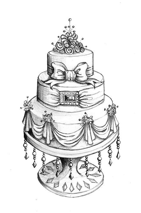 drawings of wedding cakes wedding dress cake sketch