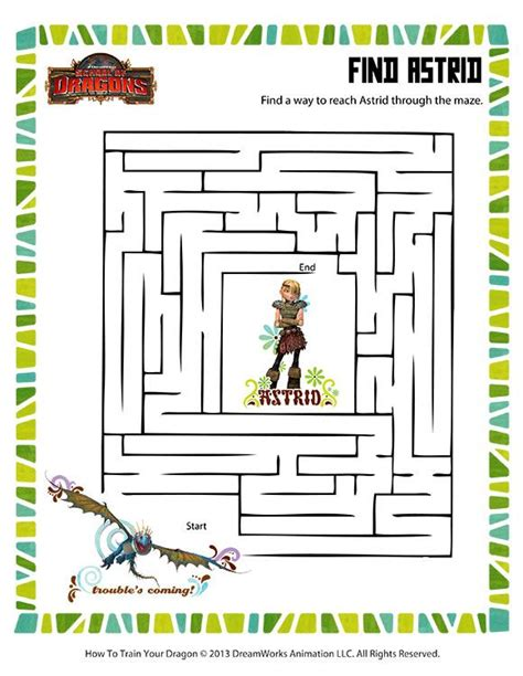 printable dragon mazes find astrid printable mazes worksheets how to train