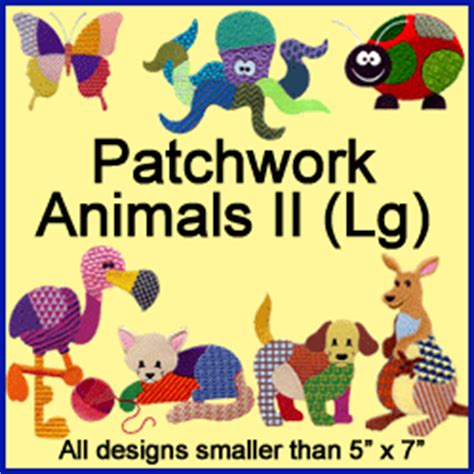 Patchwork Animal Patterns - machine embroidery designs at embroidery library