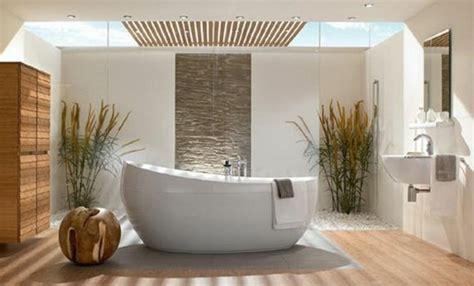 Charmant Idee Deco Petite Salle De Bain Zen #1: idee-salle-de-bain-zen-salle-de-bain-bambou-pas-cher-baignoire-blanche-salle-de-bain.jpg