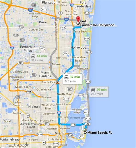 service miami fort lauderdale airport to miami car service
