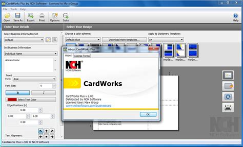 Cardworks Business Card Software Templates by Cardworks Business Card Software Plus Images Card Design