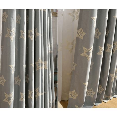 Grey Curtains Sale Best Sale Gray Linen Embroidery Curtains