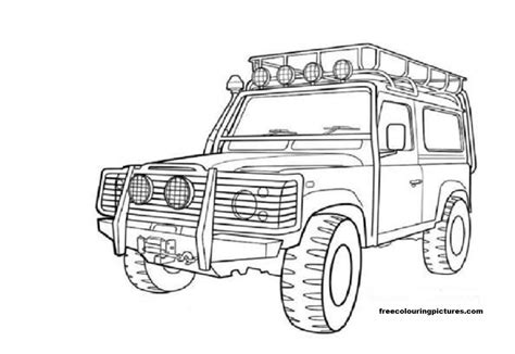 cars land coloring pages free colouring pictures cars land rovers jeeps