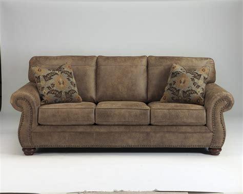 Fabric Upholstery Furniture Larkinhurst Earth Tone Leather Look Fabric Upholstery