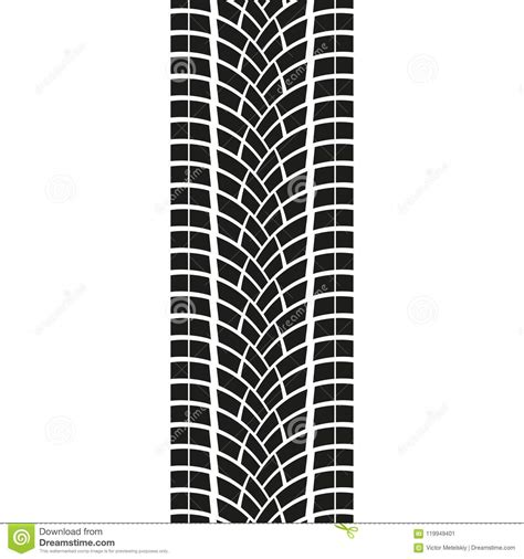 tire track isolated  white background tyre print vector illustration stock vector