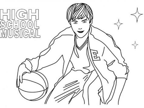 Free Coloring Pages Of High School Musical High School Coloring Pages