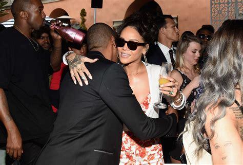 Rihanna In Post Grammys Car Crash by Rihanna Roc Nation Pre Grammy Brunch 02 Gotceleb
