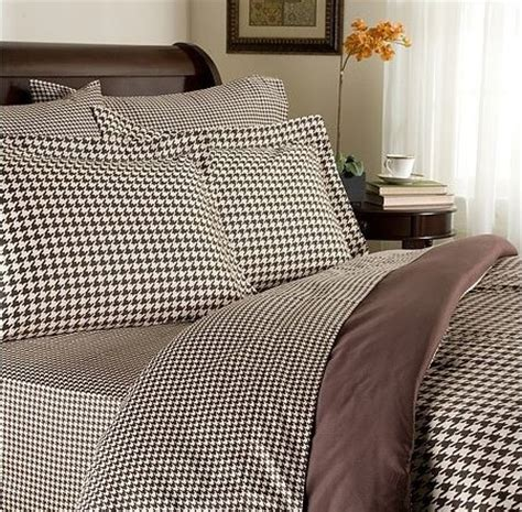 houndstooth comforter brown and ivory houndstooth bedding from bella home