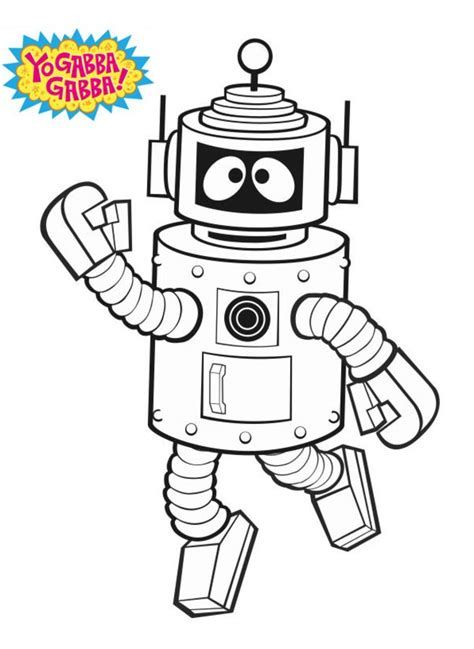 printable coloring pages yo gabba gabba coloring pages yo gabba gabba printable for kids