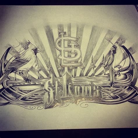 st louis tattoo designs louis cardinal artistjazz artistxdesigns