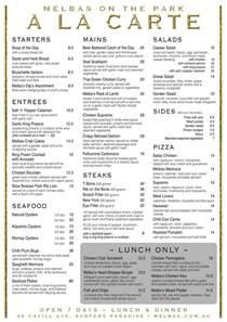 A La Carte Menu Template by World Of Cuisines April 2014