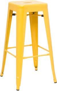 hasonay kitchen bar stool yellow metal frame fixed height