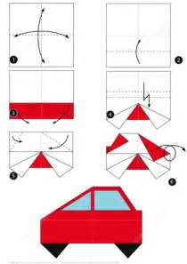 How To Make A Car Paper - how to make an origami car free printable