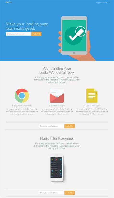 app landing page template 30 free responsive landing page templates 2015