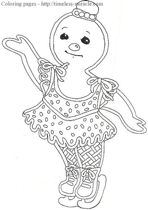 gingerbread girl page coloring pages