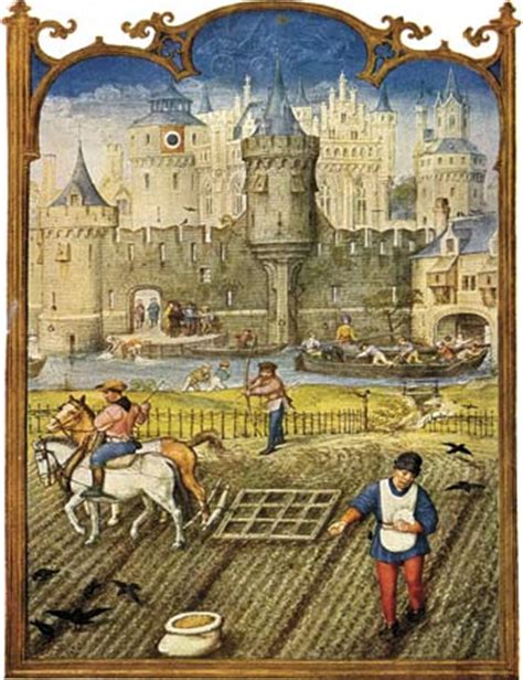 Working Online From Home Definition - grimani breviary 16th century flemish illustration of peasants working the land