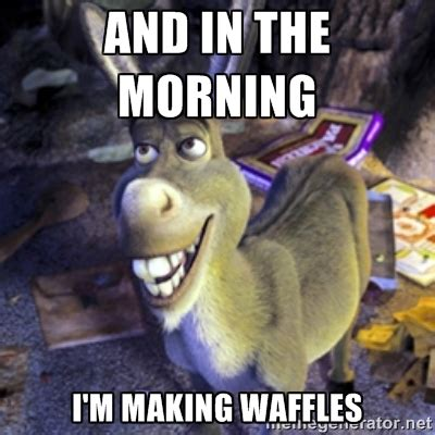 Waffles Meme - protein packed cookie butter waffles