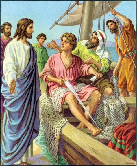 The Wedding At Cana Nkjv by Jesus Calls And While They Were Mending Nets