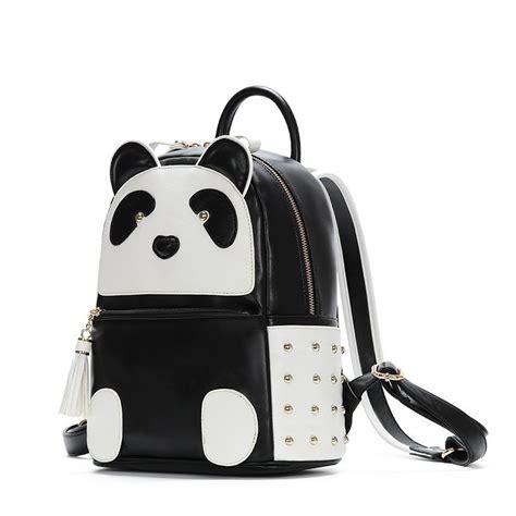 Backpack Panda 2017 new leather panda backpack shoulder bag